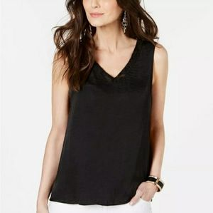 Thalia sodi women's lace trim v-neck tank top